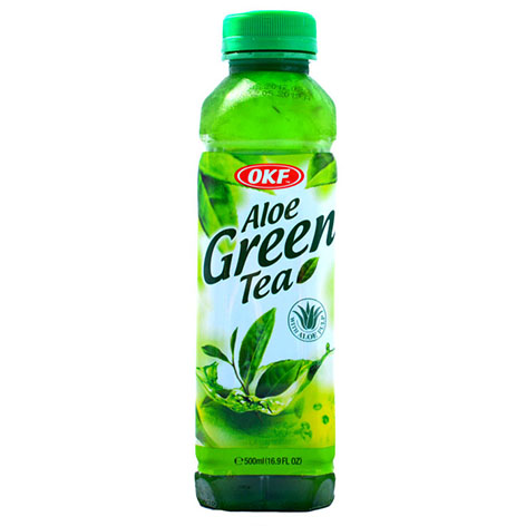 OKF Aloe Vera Green Tea Drink